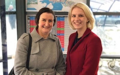 Charlotte welcomes Shadow Defence Secretary to Plymouth