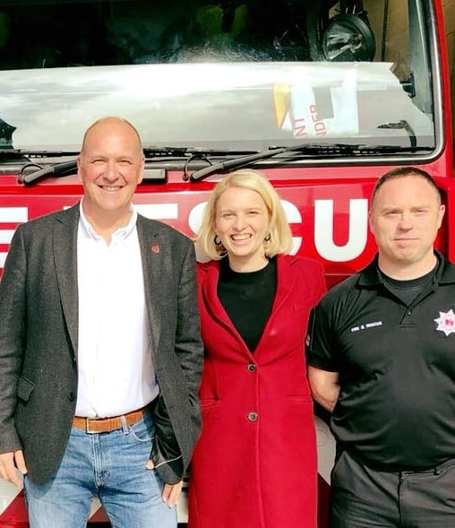 Charlotte spends afternoon with Plymouth Fire Fighters