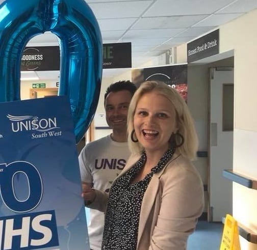 Charlotte visits Derriford Hospital for NHS 70th Birthday