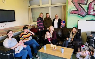 Charlotte supports other new mums at Southway Community Centre