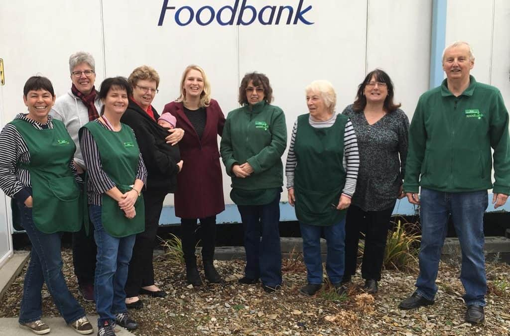 Charlotte visits local foodbank to deliver Labour donation